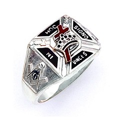 Sterling Silver Knights Templar Ring MASCJ859KT