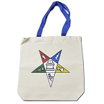 Order of the Eastern Star Masonic Cotton Canvas Tote