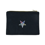 Order of the Eastern Star Masonic Canvas Black Accessory Bag