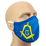 Square & Compass Masonic Face Mask