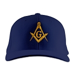 Square & Compass Embroidered Masonic Flexfit Adult Cool & Dry Piqué Mesh Hat