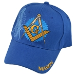 Shining Square & Compass Masonic Adjustable Baseball Cap
