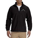 Worshipful Master's Square Embroidered Masonic Men's Fleece Full-Zip Jacket