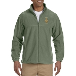 Prince Hall 1787 Embroidered Masonic Men's Fleece Full-Zip Jacket