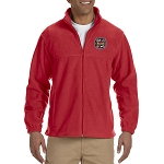Knights Templar Embroidered Masonic Men's Fleece Full-Zip Jacket