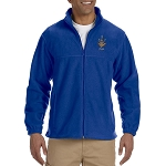 Prince Hall 3 5 7 Embroidered Masonic Men's Fleece Full-Zip Jacket