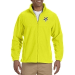 Order of the Eastern Star Embroidered Masonic Men's Fleece Full-Zip Jacket