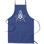Traditional Square & Compass Masonic Cooking Kitchen Apron