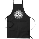 Shining Triangle All Seeing Eye Masonic Cooking Kitchen Apron