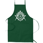 Sunburst Square & Compass Masonic Cooking Kitchen Apron