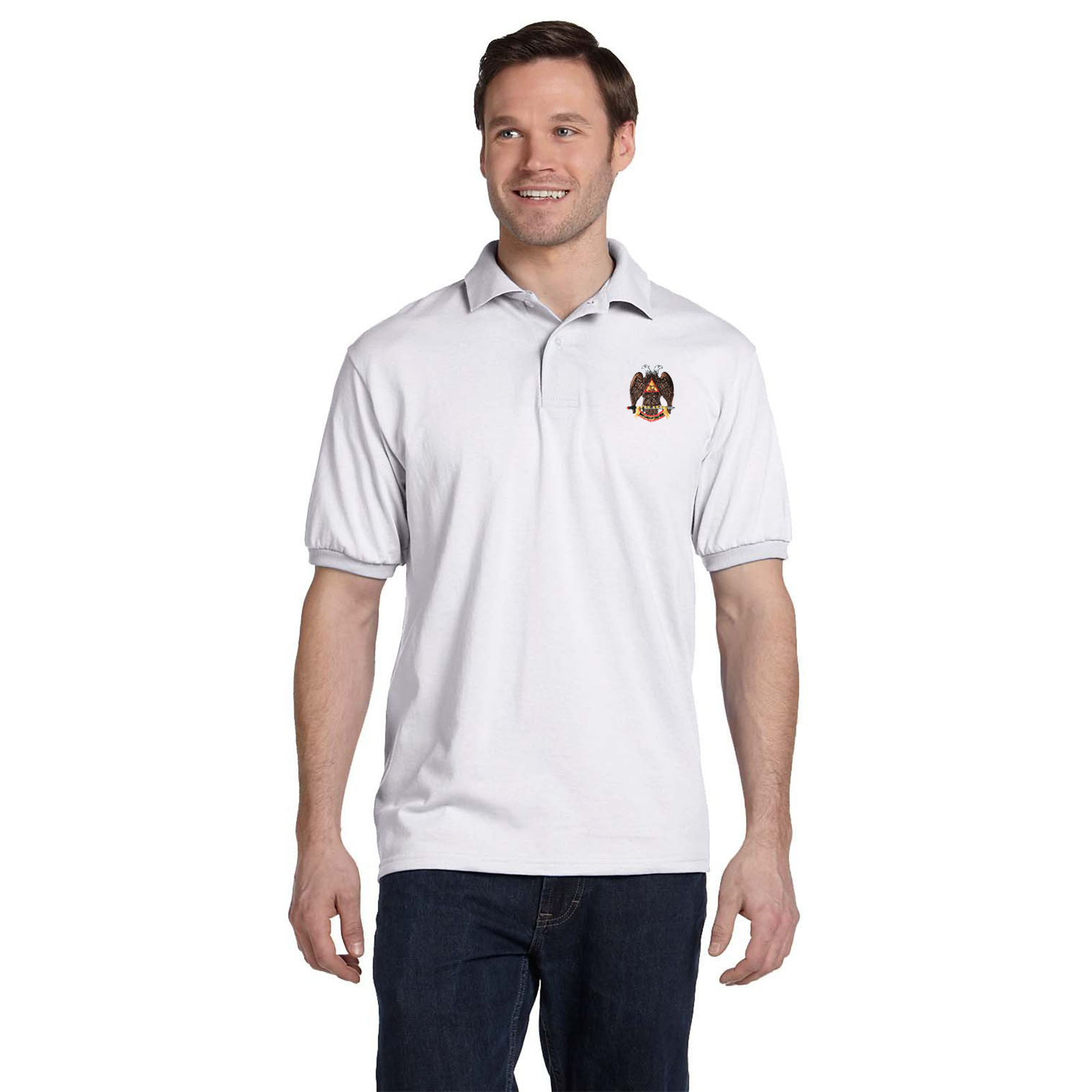 32nd Degree Embroidered Masonic Men's Polo Shirt