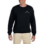 Worshipful Master's Square Embroidered Masonic Men's Fleece Crew Sweatshirt