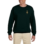 Prince Hall 1787 Embroidered Masonic Men's Fleece Crew Sweatshirt