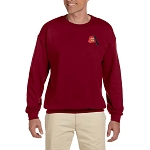 Shriner Fez Embroidered Masonic Men's Fleece Crew Sweatshirt