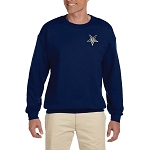 Order of the Eastern Star Embroidered Masonic Men's Fleece Crew Sweatshirt
