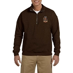 32nd Degree Embroidered Masonic Men's Quarter-Zip Sweatshirt