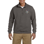 Order of the Eastern Star Embroidered Masonic Men's Quarter-Zip Sweatshirt