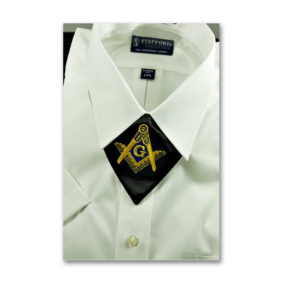 Black /& Gold Square /& Compass Masonic Cravat