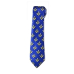 Square & Compass Masonic Neck Tie - [Blue & Gold]