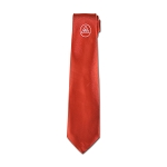 Royal Arch Triple Tau Satin Masonic Neck Tie - [Red & White]