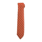 Square & Compass Masonic Neck Tie - [Red & Yellow]
