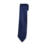 Square & Compass Masonic Neck Tie - [Navy & Royal]