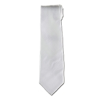 Men's White Satin Tie