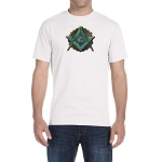 Green Shining Square & Compass Masonic Men's Crewneck T-Shirt