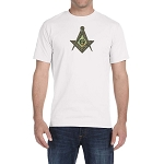 Antique Square & Compass Masonic Men's Crewneck T-Shirt