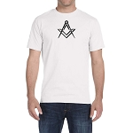 Simple Square & Compass Masonic Men's Crewneck T-Shirt