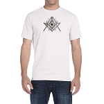 Shining Square & Compass Masonic Men's Crewneck T-Shirt