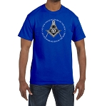 Let Our Voices Be Heard Let Our Work Be Seen Masonic Men's Crewneck T-Shirt