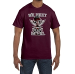 We Meet Upon the Level Skull Wings Masonic Men's Crewneck T-Shirt