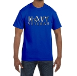 Silver Navy Veteran Square & Compass Masonic Men's Crewneck T-Shirt