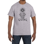 No One Has Ever Become Poor From Giving Masonic Men's Crewneck T-Shirt