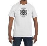Shining Square & Compass All Seeing Eye Masonic Men's Crewneck T-Shirt