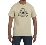Entered Passed Raised All Seeing Eye Triangle Masonic Men's Crewneck T-Shirt
