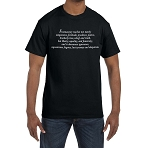 Freemasonry Teaches not Merely Temperance, Fortitude, Prudence, Justice Masonic Men's Crewneck T-Shirt