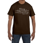 Freemasonry's Leading Star is Philanthropy and Inculcates Virtue and Morality Masonic Men's Crewneck T-Shirt