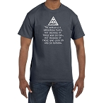 The World is a Dangerous Place Because of Those Who do Nothing Masonic Men's Crewneck T-Shirt