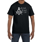 Some Seek to Become Members Others to Become Masons There is a Difference Masonic Men's Crewneck T-Shirt