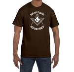 Fair and Square Just and Honest Masonic Men's Crewneck T-Shirt