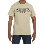 Sometimes the Smallest Step in the Right Direction is the Biggest Step of Your Life Masonic Men's Crewneck T-Shirt