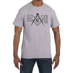 My Goal isn't to be Better Than Others it is to be Better Than I Once Was Masonic Men's Crewneck T-Shirt