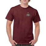 Past Master with Square & Protractor Embroidered Masonic Men's Crew Neck T-Shirt
