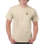 Prince Hall 3 5 7 Embroidered Masonic Men's Crew Neck T-Shirt