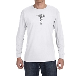 Caduceus Hermetic Masonic Men's Crew Neck Long Sleeve T-Shirt - [LongSleeve]