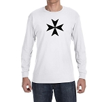 Maltese Cross Masonic Men's Crew Neck Long Sleeve T-Shirt - [LongSleeve]