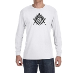 Shining Square & Compass Masonic Men's Crew Neck Long Sleeve T-Shirt - [LongSleeve]