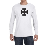 Teutonic Tau Cross Masonic Men's Crew Neck Long Sleeve T-Shirt - [LongSleeve]